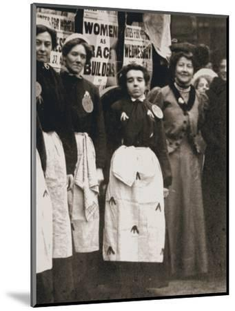 Ada Flatman, British suffragette, at a demonstration she organised in Liverpool, 1909-Unknown-Mounted Photographic Print