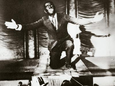 Al Jolson, American singer, in the final scene from the film 'The Jazz Singer', 1927-Unknown-Framed Photographic Print