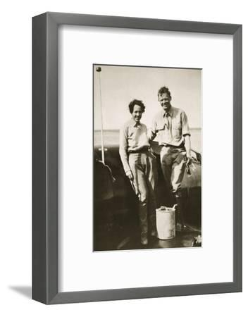 American aviator Charles Lindbergh and his wife Anne after their flight to Japan, 1931-Unknown-Framed Photographic Print