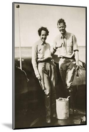 American aviator Charles Lindbergh and his wife Anne after their flight to Japan, 1931-Unknown-Mounted Photographic Print