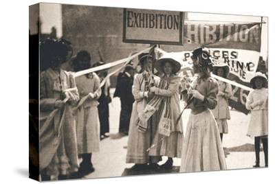 Young suffragettes promote the fortnight-long Women's Exhibition, London, 13 May 1909-Unknown-Stretched Canvas Print
