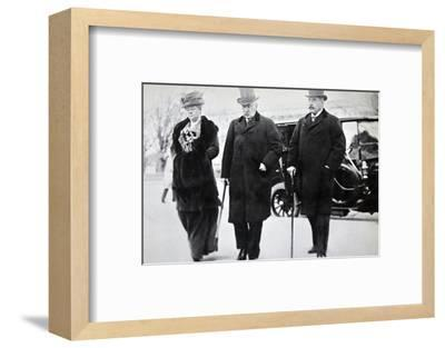 John Pierpont Morgan, American financier and banker, with his son and daughter, 1912-Unknown-Framed Photographic Print