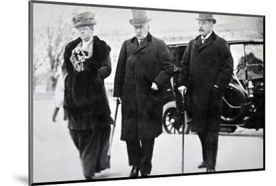 John Pierpont Morgan, American financier and banker, with his son and daughter, 1912-Unknown-Mounted Photographic Print