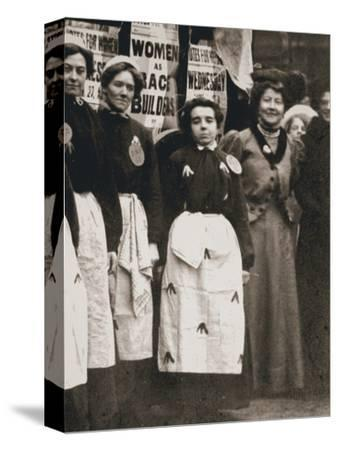 Ada Flatman, British suffragette, at a demonstration she organised in Liverpool, 1909-Unknown-Stretched Canvas Print