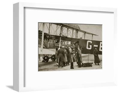 Passengers boarding an Imperial Airways aircraft for a flight to Paris, c1924-c1929 (?)-Unknown-Framed Photographic Print