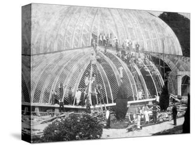 Making repairs to the Great Conservatory at Chatsworth, Derbyshire, late 19th century-Unknown-Stretched Canvas Print