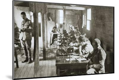 Interior of a signal exchange during the Battle of the Somme, France, World War I, 1916-Unknown-Mounted Photographic Print