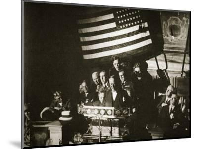 New York Governor Al Smith accepting the Democratic nomination for the Presidency, 1928-Unknown-Mounted Photographic Print