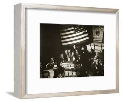 New York Governor Al Smith accepting the Democratic nomination for the Presidency, 1928-Unknown-Framed Photographic Print