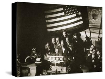 New York Governor Al Smith accepting the Democratic nomination for the Presidency, 1928-Unknown-Stretched Canvas Print