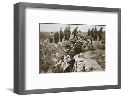 German prisoners brought in from Contalmaison, Somme campaign, France, World War I, 1916-Unknown-Framed Photographic Print