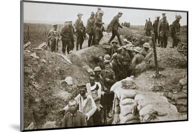 German prisoners brought in from Contalmaison, Somme campaign, France, World War I, 1916-Unknown-Mounted Photographic Print