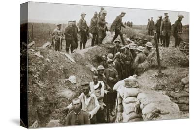 German prisoners brought in from Contalmaison, Somme campaign, France, World War I, 1916-Unknown-Stretched Canvas Print