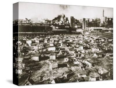 A 'Hooverville' on waterfront of Seattle, Washington, USA, Great Depression, March 1933-Unknown-Stretched Canvas Print