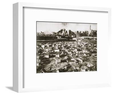 A 'Hooverville' on waterfront of Seattle, Washington, USA, Great Depression, March 1933-Unknown-Framed Photographic Print
