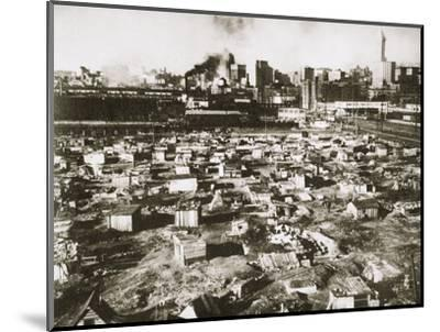 A 'Hooverville' on waterfront of Seattle, Washington, USA, Great Depression, March 1933-Unknown-Mounted Photographic Print