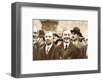 Members of Britain's first Labour Government, after leaving Buckingham Palace, London, 1924-Unknown-Framed Photographic Print