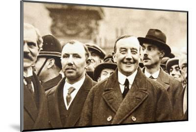 Members of Britain's first Labour Government, after leaving Buckingham Palace, London, 1924-Unknown-Mounted Photographic Print