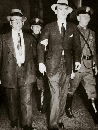 Jack 'Legs' Diamond, temporarily in the hands of the law in Troy, New York, USA, July 1931-Unknown-Framed Photographic Print