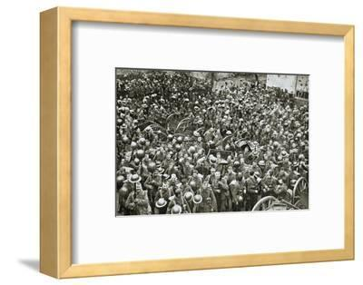 'The Loyal North Lancashire Regiment parading for the trenches', France, World War I, 1916-Unknown-Framed Photographic Print