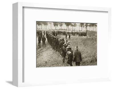 New Zealand troops queuing for a field canteen, Somme campaign, France, World War I, 1916-Unknown-Framed Photographic Print