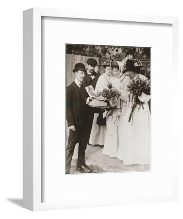 Christabel Pankhurst and Emmeline Pethick-Lawrence, British suffragettes, 18 September, 1908-Unknown-Framed Photographic Print