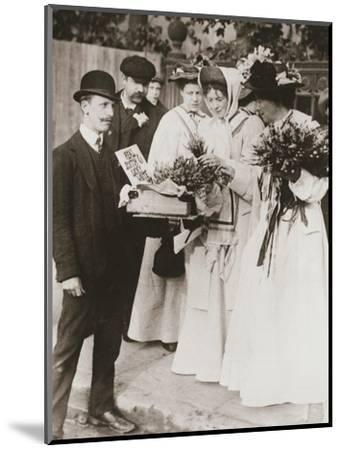 Christabel Pankhurst and Emmeline Pethick-Lawrence, British suffragettes, 18 September, 1908-Unknown-Mounted Photographic Print