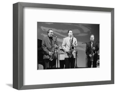 Ken Peplowski, Scot Hamilton and Harry Allen, Brecon Jazz Festival, Powys, Wales, Aug 1998-Brian O'Connor-Framed Photographic Print