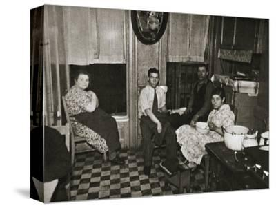 Residents of a tenement, Henry Street, Lower East Side, Manhattan, New York, USA, early 1930s-Unknown-Stretched Canvas Print