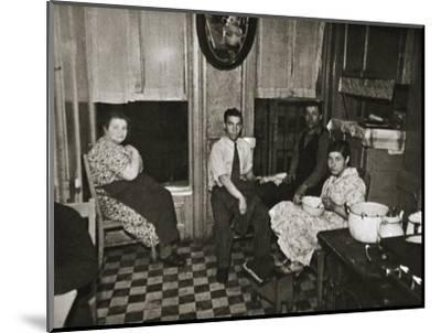 Residents of a tenement, Henry Street, Lower East Side, Manhattan, New York, USA, early 1930s-Unknown-Mounted Photographic Print