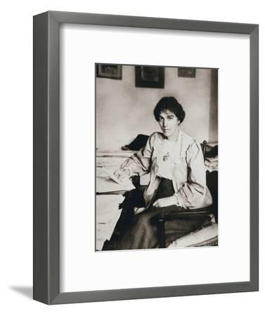 Mabel Tuke, Joint Honourary Secretary of the Women's Social and Political Union (WSPU), c1908-Unknown-Framed Photographic Print