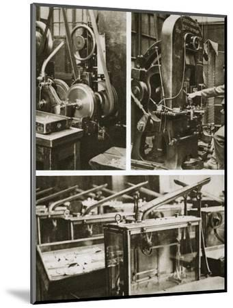 Money making; stamping and milling the disks and weighing the finished coins, 20th century-Unknown-Mounted Photographic Print