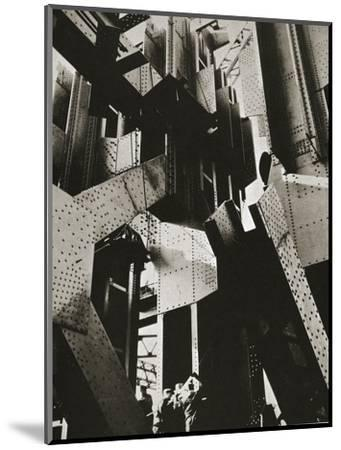 Construction of one of the towers of the George Washington Bridge, New York, USA, late 1920s-Unknown-Mounted Photographic Print