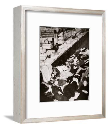 Girl employees of Woolworth's five and dime store, West Fourteenth Street, New York, USA, 1937-Unknown-Framed Photographic Print