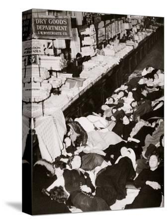 Girl employees of Woolworth's five and dime store, West Fourteenth Street, New York, USA, 1937-Unknown-Stretched Canvas Print