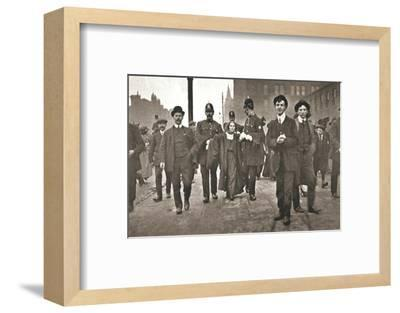 Arrest of Dora Marsden, British suffragette, outside the Victoria University of Manchester, 1909-Unknown-Framed Photographic Print