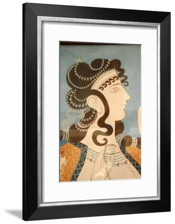 """Detail of one of the """"Blue Ladies""""-Werner Forman-Framed Giclee Print"""