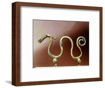 Bronze ornament in the shape of a serpent-Werner Forman-Framed Giclee Print