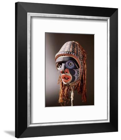Mask with humanoid face-Werner Forman-Framed Giclee Print