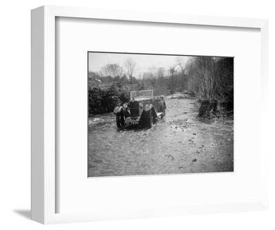 Kitty Brunell road testing a Riley 9 tourer, c1930-Bill Brunell-Framed Photographic Print