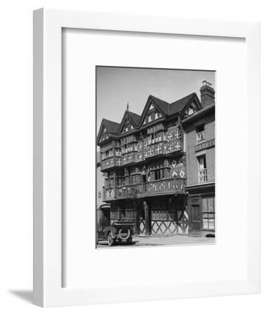 Buick outside the Feathers Hotel, Ludlow, Shropshire, c1930-Bill Brunell-Framed Photographic Print