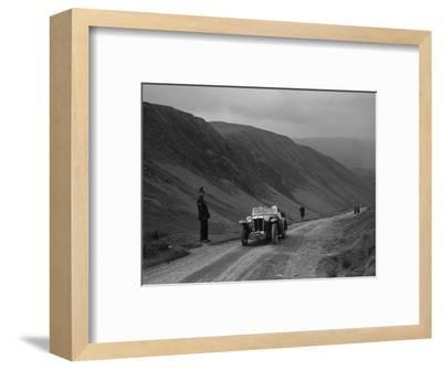 MG PA competing in the MG Car Club Abingdon Trial/Rally, 1939-Bill Brunell-Framed Photographic Print