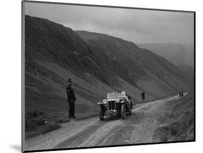 MG PA competing in the MG Car Club Abingdon Trial/Rally, 1939-Bill Brunell-Mounted Photographic Print