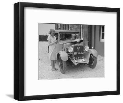 Bianchi saloon of Kitty Brunell at the B&HMC Brighton Motor Rally, 1930-Bill Brunell-Framed Photographic Print