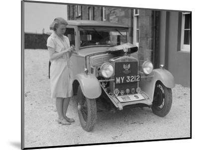 Bianchi saloon of Kitty Brunell at the B&HMC Brighton Motor Rally, 1930-Bill Brunell-Mounted Photographic Print