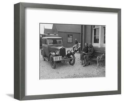 Wolseley Hornet of Morna Vaughan, B&HMC Brighton Motor Rally, John O'Groats, Scotland, 1930-Bill Brunell-Framed Photographic Print