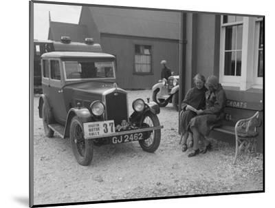 Wolseley Hornet of Morna Vaughan, B&HMC Brighton Motor Rally, John O'Groats, Scotland, 1930-Bill Brunell-Mounted Photographic Print