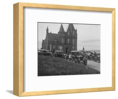 Cars competing in the B&HMC Brighton Motor Rally, John O'Groats, Scotland, 1930-Bill Brunell-Framed Photographic Print