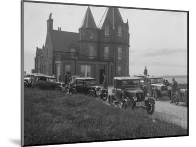 Cars competing in the B&HMC Brighton Motor Rally, John O'Groats, Scotland, 1930-Bill Brunell-Mounted Photographic Print