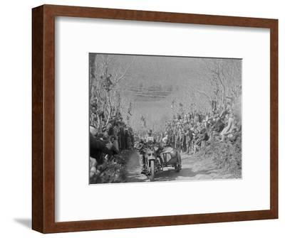 Harley-Davidson of RW Praill, MCC Lands End Trial, Hustyn Hill, Wadebridge, Cornwall, 1933-Bill Brunell-Framed Photographic Print